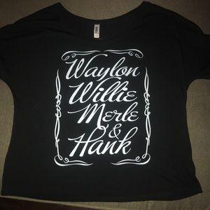 Tops - Waylon, Willie, Merle & Hank Tee